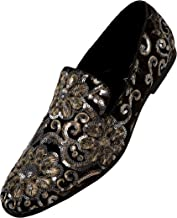 Amali The Original Sequin Embroidered Smoking Slipper Men's Dress Shoes