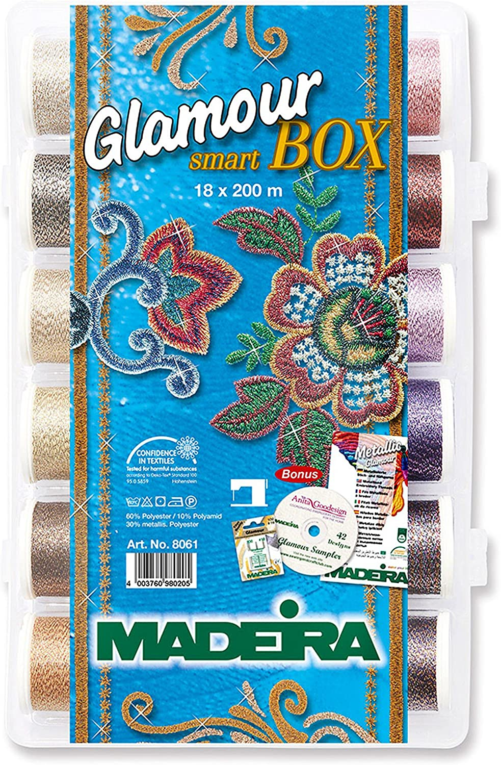 Madeira 98168061 SmartBox Glamour 12 Spool yd 55% OFF 220 Cheap mail order sales Set 18