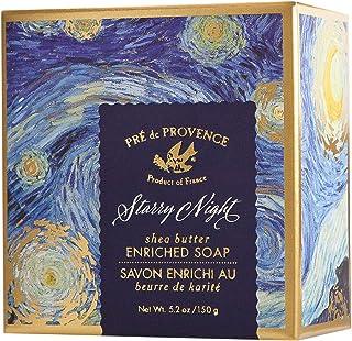 Pre De Provence Shea Butter Enriched Soap Bar in Beautiful Gift Box (150 Gram) - Starry Night