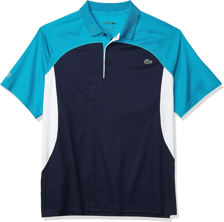 Lacoste Mens Sport Miami Open Ultra Dry Colorblock Polo Shirt