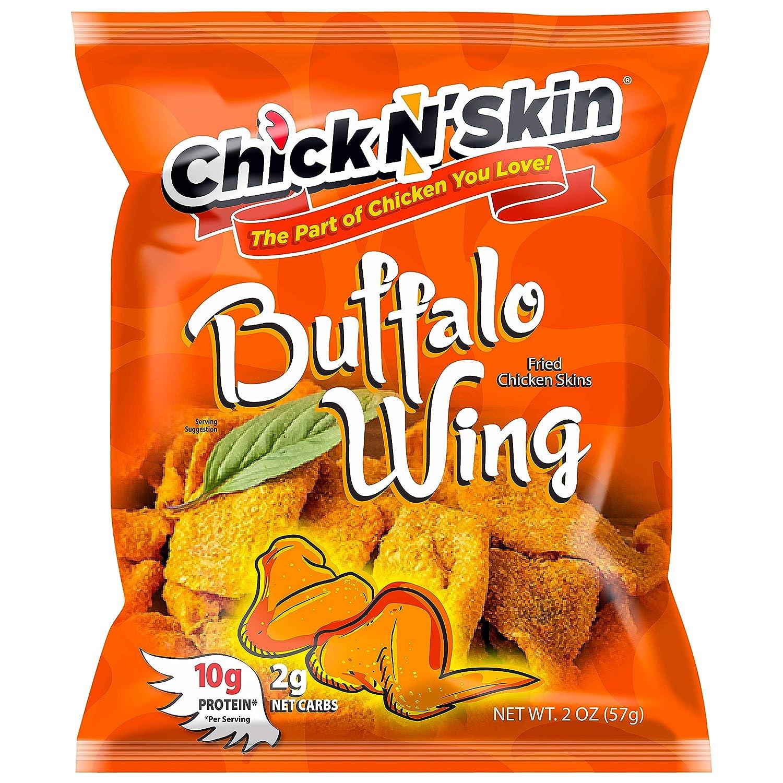 Chick N' Skin Fried Chicken Skins Flavor 5 ☆ popular cheap 8P Buffalo Wing -