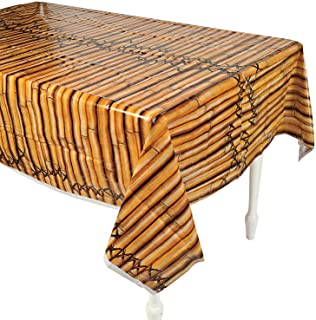 Fun Express - Bamboo Tablecover for Party - Party Supplies - Table Covers - Print Table Covers - Party - 1 Piece