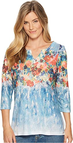 FDJ French Dressing Jeans - Garden Flowers Print V-Neck Top