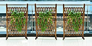 YATAI Wooden Fence Portable Expanding Wicker Wooden Fence for Home Garden Villa Outdoor Decoration – Wood Fence (1 Pcs)
