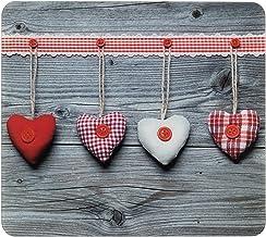 WENKO Multi-plaat harten - voor glaskeramische kookplaten, snijplank, gehard glas, 56 x 0,5 x 50 cm, meerkleurig