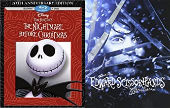 Edward Scissorhands Steelbook Blu Ray 25th Anniversary Exclusive & The Nightmare Before Christmas 20th Edition (Blu-ray + ...