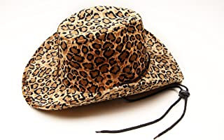 CAPTAIN FLOATY Women's Cowboy, Cowgirl Hat - Felt Western Cowboys Hats for Men Women Ladies and Girls (Leopard Print)