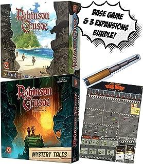 Robinson Crusoe Base Game + Robinson Crusoe: Mystery Tales + Robinson Crusoe: King Kong Island Scenario & Robinson Crusoe: Spyglass of Illusory Hope (BGG)! Board Game Bundle!
