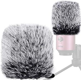 Mic Cover Pop Filter Compatible with Fifine K669B 669b,Furry Microphone Windscreen Cover k669,Wind Muff Windscreen 669b,Ou...