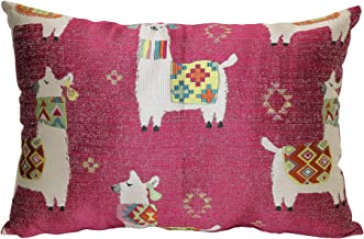 Brentwood Originals Llama Drama Pillow, 14 x 20, Pink
