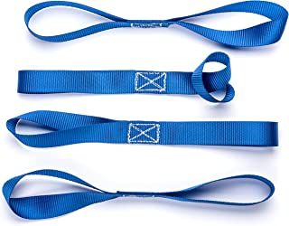 Vault Soft Loop Tie Down Straps 1200 Lbs Capacity. 4 Pack. Strap Down an ATV, UTV, Motorcycle, Dirt Bike & More. Prevent Damage and Scratches. Works Great With Ratchet and Cambuckle Strap