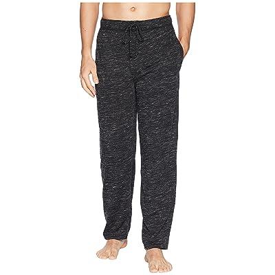 Jockey Tiger Heather Knit Sleep Pants (Caviar/Bright White) Men