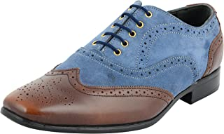 STYLIANO Men's Leather Brogue Shoes