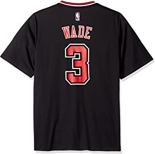 NBA Men's Chicago Bulls Dwayne Wade Replica Player Alternate Road Jersey, Medium, Black