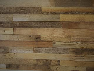 EAST COAST RUSTIC Reclaimed Barn Wood Wall Panels - Easy Install Rustic Wood DIY Wall Covering for Feature Walls (20 Sq Ft - 2