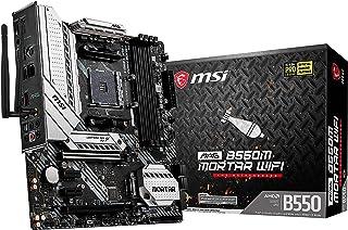 MSI MAG B550M MORTAR WIFI - Placa Base Arsenal Gaming (AMD AM4 DDR4 M.2 USB 3.2 Gen 2 HDMI MICRO ATX), AMD Ryzen 5000 Seri...
