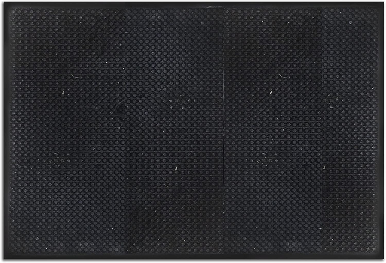Resilia Trapper Entry Door Mat - for Scrapping Mud, Snow and Grass from shoes - Black, 24 Inches x 36 Inches