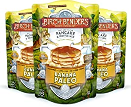 Banana Paleo Pancake & Waffle Mix By Birch Benders, Gluten Free, 6g Protein, Grain Free, No Added Sugar, Non-gmo, All Natural, 12 Oz Each, Pack of 3