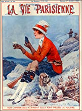 1927 La Vie Parisienne Woman and Cocker or English Springer Spaniel Hunting French Nouveau from a Magazine France Travel Advertisement Picture Art Poster Print. Poster measures 10 x 13.5 inches