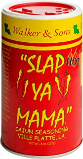 Slap Ya Mama Louisiana Style Cajun Seasoning, Hot Blend, MSG Free and Kosher, 8 Ounce Can