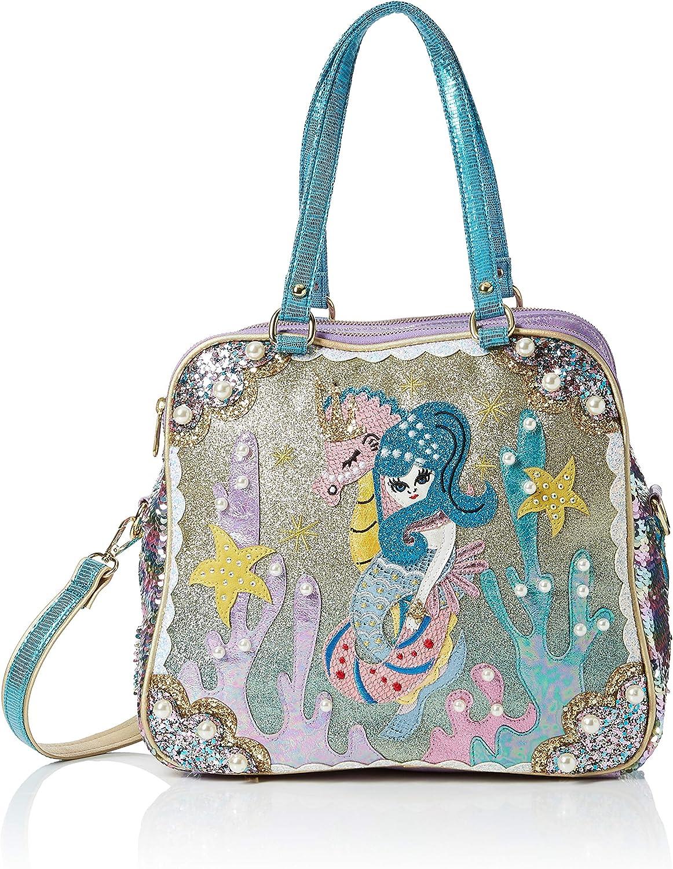 Irregular Choice Damen Barnacle Betty Bag Shopper Mehrfarbig (Grün lila) 16x30x32 centimeters B079SH5GL7