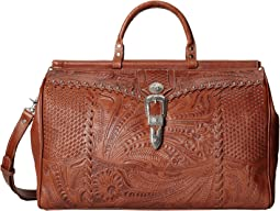 American West - Retro Romance Duffel Bag