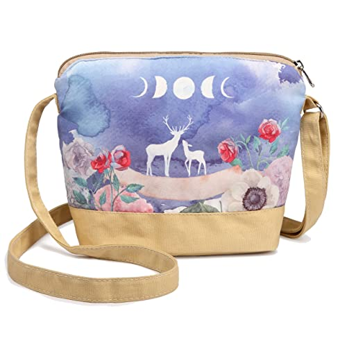 Crest Design Whimsical Canvas Cross-body Shoulder Bag for Girls and  Teenagers c4cdc464e
