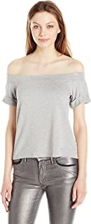 Michael Stars Women's French Terry Off The Shoulder Sweatshirt