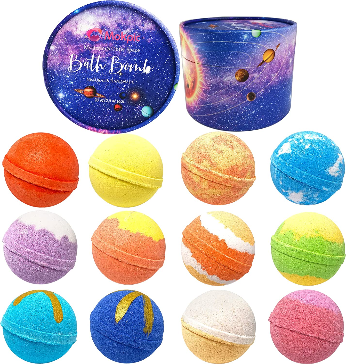 MOKPIC Bath low-pricing Bombs 12 Pack Solar Gift System Bomb Planets Finally popular brand S