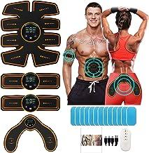 Pasebo Ems Abs Stimulator - Hip Trainer Buikspier Training Riem Thuis Fitness Apparatuur Maagarm Hip Totaal Abs Toner Body...