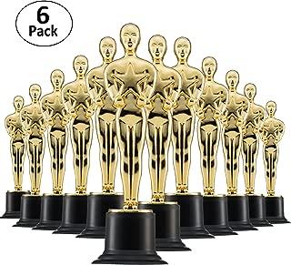 Prextex 6 Pack Award Trophies for Ceremonies or Parties 6
