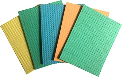 Brite Guard Cellulose Cleaning Sponge Mop, 16 x 20 x 0.4 cm, Multicolour - Pack of 20