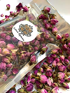 Rose Buds   Whole   Premium Quality First Cut (1/4 pound), Rose Buds & Petals Tea, Food Grade Edible Fragrant Natural Heal...
