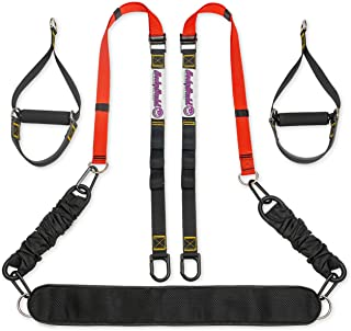 Bodyweight Fitness Straps and Resistance Training Kit, Used for Home Gym and Total Body Workout System, Durable and Sturdy