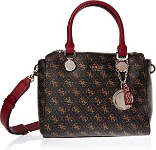 Guess Satchel Bag for Women- Brown