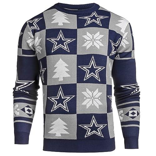 the best attitude e490e b14e8 Dallas Cowboys Ugly Christmas Sweater: Amazon.com