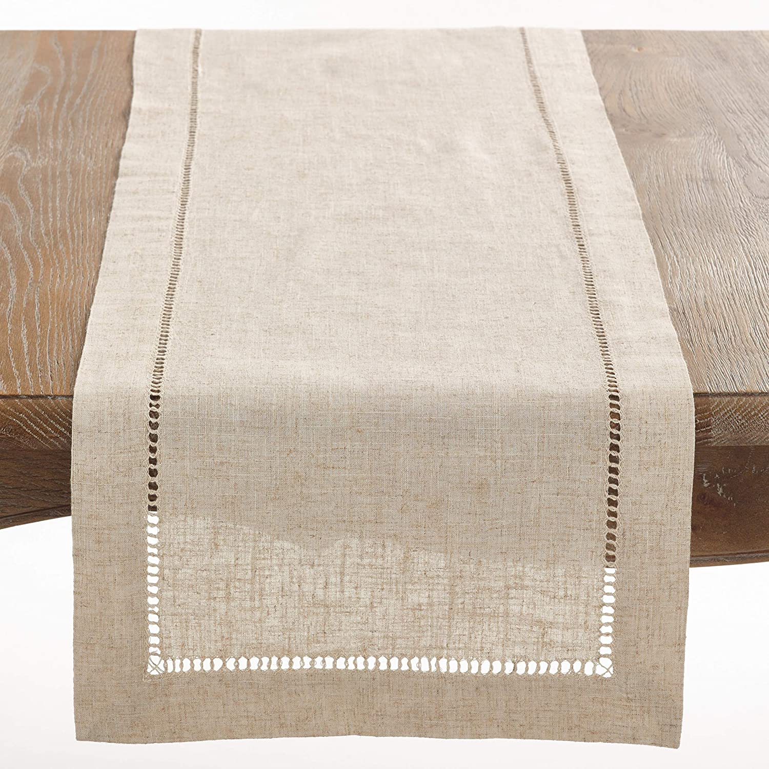 Fennco Styles Toscana All items in the store Max 62% OFF Contemporary Hemstitched Linen Blend 18 x