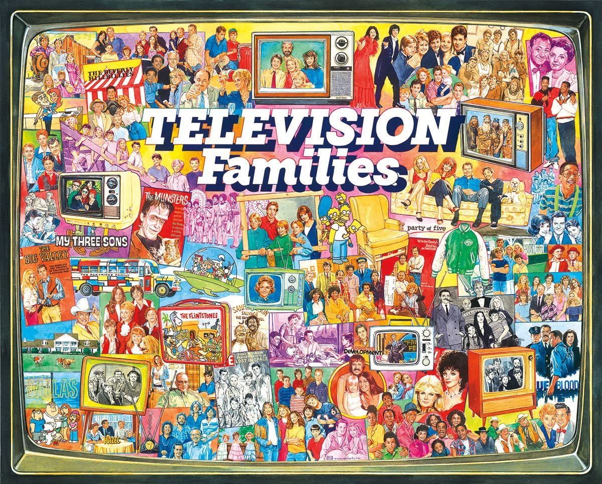 White Mountain Puzzles TV Families Jigsaw Piece 1000 Elegant Puzzle Sale special price -