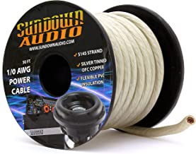 SA-1/0-OFC Silver - Sundown Audio 50 Feet Power Cable Copper Wire (Spool)