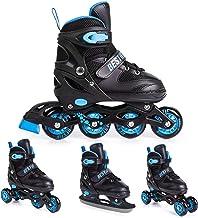 BESTIF Inliner für Kinder und Erwachsene Inline Skates 4in1 Rollschuhe Schlittschuhe Verstellbar
