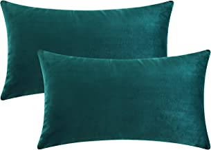 dark teal velvet pillows