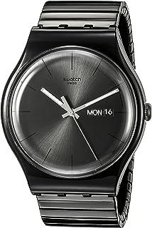 Swatch Unisex SUOB708B Mystery Life Analog Display Quartz Black Watch