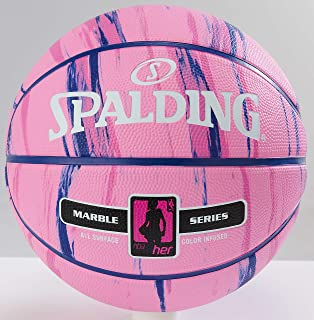 Spalding NBA Marble Series 4 Her Outdoor Basketball, 28.5 inch Length, Multicolor