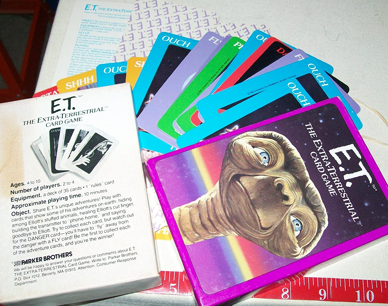Parker Brothers E.T. the Extraterrestrial Card Game