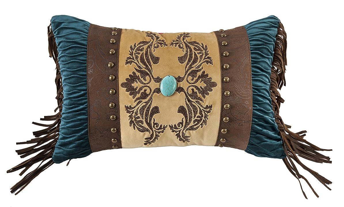 開拓者赤道シンプルなHiEnd Accents ユニセックス 人工皮革 装飾枕 宝石装飾 One Size FB1714P4