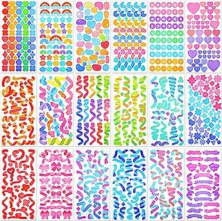 18 Sheets Colorful Letter Sticker Alphabet Self Adhesive Sticker Heart Ribbon Star Sticker Love Decorative Sticker Bulk DI...