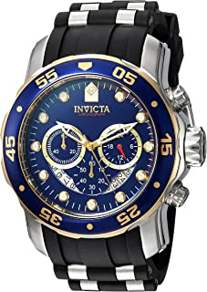 Invicta Men's Pro Diver Stainless Steel Quartz Watch with Silicone Strap, Black, 26 (Model: 22971)