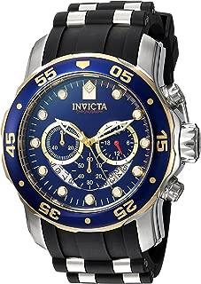 Invicta Men's Pro Diver Stainless Steel Quartz Watch with Silicone Strap, Black, 26 (Model: 22971)