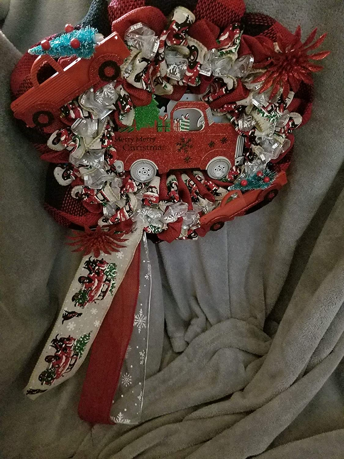 Truck Save money themed New color christmas wreath
