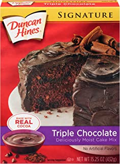 Duncan Hines Signature Triple Chocolate Cake Mix, 15.3 Oz (Pack Of 12)